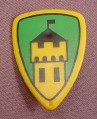 Playmobil Yellow & Green Teardrop Shaped Shield with Castle Crest, 3652 3666 7045