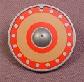 Playmobil Silver Gray Round Shield With Brown & Red Design, 4599 5003, Grey, The Shield Is 30 22 832