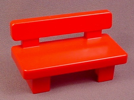 Playmobil 123 Red Park Bench, 6609 6721 6748 6757 6800 6905 6908 6915