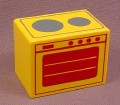 Playmobil 123 Yellow Stove Oven With A 2 Burner Top & Oven Door Patterns, 6802, Furniture