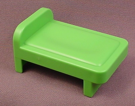Playmobil 123 Green Single Bed, 6777 6802, Furniture