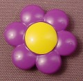 Playmobil 123 Dark Purple Flower With A Yellow Center, Clips Onto A Stem, 6757 6748 6781, 60 64 3610