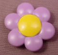 Playmobil 123 Light Purple Flower With A Yellow Center, Clips Onto A Stem, 6757