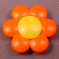 Playmobil 123 Orange Flower With A Yellow Center, Clips Onto A Stem, 5046 6750 6757 6763 6766 6788