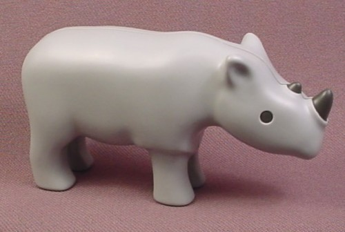 Playmobil 123 Gray Rhino Rhinoceros, Animal Figure, 6743, Grey