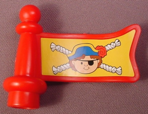 Fisher Price Little People Replacement Flag for Pirate Ship, J4419, M7119,  LP