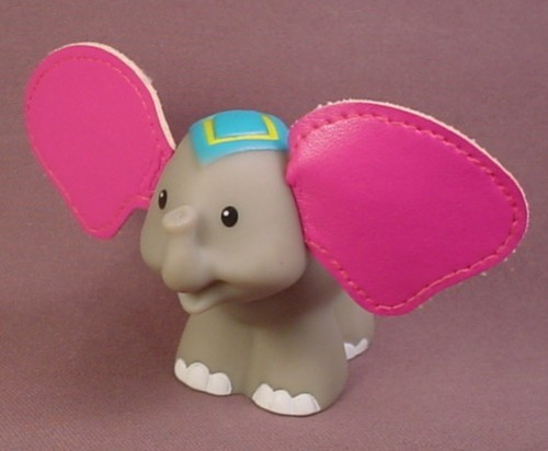 Fisher Price Little People 2005 Touch Feel Elephant With A Turtle On Its Back Leathery Ears