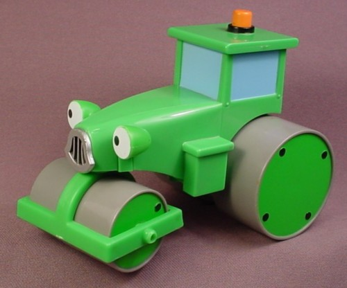 Bob The Builder 2001 Talking Roley The Steamroller, Front Eyes Move Up & Down