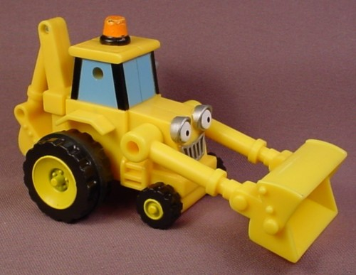 Bob The Builder 2001 Scoop Vehicle with Friction Motor that Makes the Bucket Raise Up