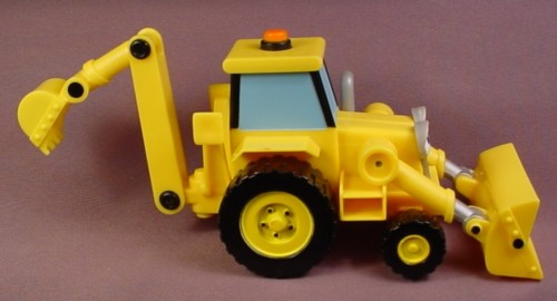Bob The Builder 2000 Scoop Vehicle With Extendable Rear Bucket, Front Bucket Moves Up