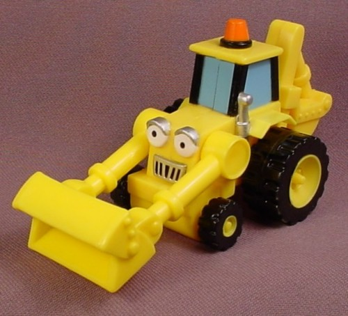 Bob The Builder 2001 Scoop Vehicle, Front Bucket Moves Up & Down, Hasbro