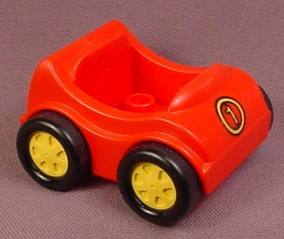 Lego Duplo 31363 Red Vehicle Car with Yellow Number 1 Pattern & Black Wheels
