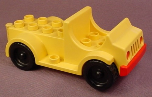 Lego Duplo 4575 Yellow Truck Vehicle with 2x2 Seat and 2x4 Stud Cargo Bed, Black Wheels