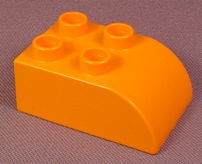 Lego Duplo 2302 Orange 2x3 Brick with Curved Top, Bob The Builder
