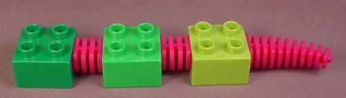 Lego Duplo 44255 Alligator or Crocodile Body Made of 3 2x2 Bricks Connected by Flexible