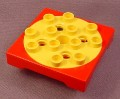 Lego Duplo Toolo 6297 Yellow & Red 4x4 Complete Turntable Assembly
