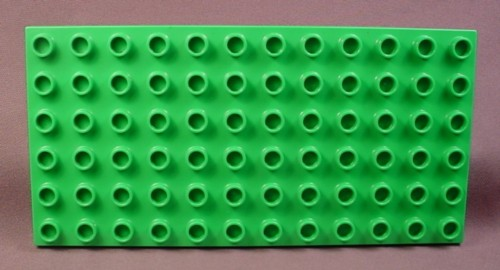 Lego Duplo 4196 Bright Green 6x12 Plate, Baseplate, Base Plate, Zoo, Racing