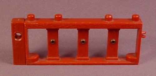 Fisher Price Imaginext Brown Railing with Gold Accents, 4 Inches Long, B1472, G8738
