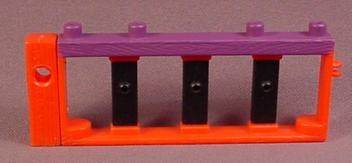 Fisher Price Imaginext Red Black & Purple Railing, 4 Inches Long, B1472, G8738, Color Variation