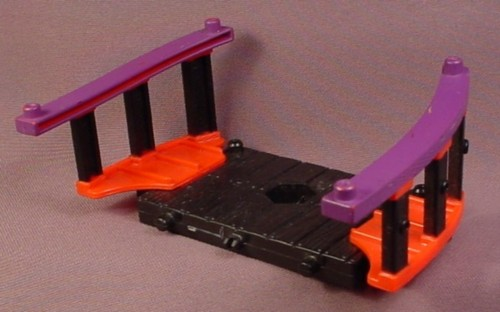 Fisher Price Imaginext Black Wood Deck with Red & Purple Railings, B1472, G8738
