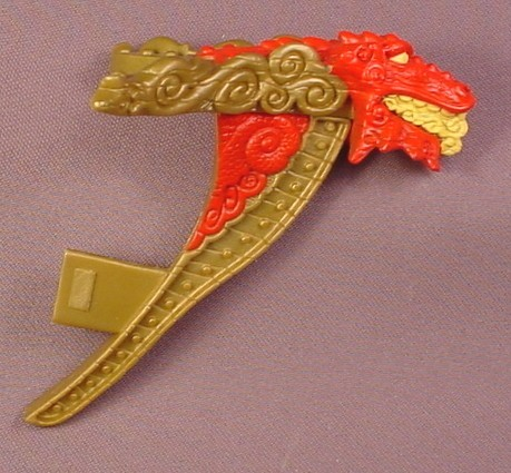 Fisher Price Imaginext Gold Red & Yellow Dragon Bow Figure Head, B1472, G8738