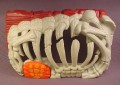 Fisher Price Imaginext Wall with Skeleton Ribcage That Opens When Button is Pressed, H5341