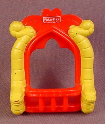 Fisher Price Imaginext Red Window Balcony with Yellow Snakes Trim, H0709