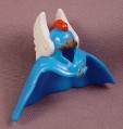 Fisher Price Imaginext Large Blue Cape Cowl with White Feathers & Red Crest, J7962,