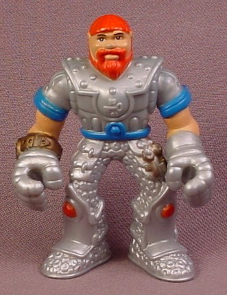 Fisher Price Imaginext Knight Figure with Red Hair & Beard, Silver Armor, J8219 Treasure keeper