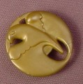 Fisher Price Imaginext Silver Round Gold Coin or Medallion with Bird Design, J8219