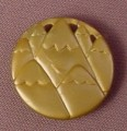 Fisher Price Imaginext Silver Round Gold Coin or Medallion with Mountains Design, J8219