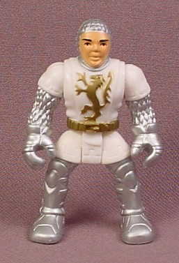 Fisher Price Imaginext Sir Galahad Knight Figure with Silver Armor & White tunic, H2383