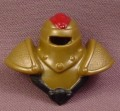 Fisher Price Imaginext Gold Cowl Armor with Black Trim & Red Plume, Dungeon Keeper, 2005