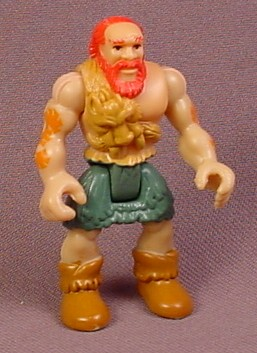 Fisher Price Imaginext Caveman Figure with Tattoos, Green Pants, Red Hair & Beard, H0044