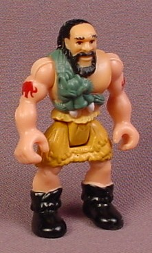 Fisher Price Imaginext Caveman Figure with Red Tattoos, Green Fur & Yellow Pants, J2532
