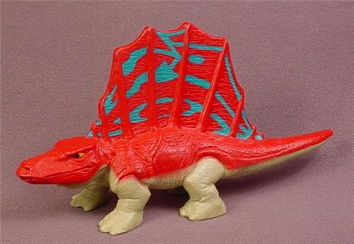 Fisher Price Imaginext Red Blue & Brown Dimetrodon Dinosaur Animal Figure, H0043 Spiny