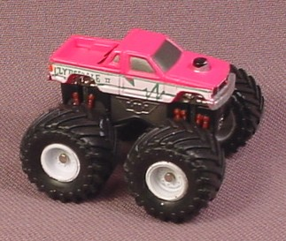 Micro Machines 1990 Clydsdale Ii Monster Truck Pickup Style 1 Pink White Galoob Rons Rescued Treasures