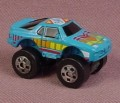 Micro Machines 1987 Road Champs Porsche 944 Monster Truck, Blue with Yellow & Red