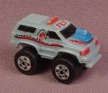 Micro Machines 1987 Road Champs Ford Bronco Monster Truck, Blue with Red Trim