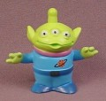 Disney Toy Story Green 3 Eyed Alien PVC Figure, 1 3/4 Inches Tall, Figurine
