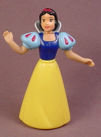 Disney Snow White Figure With PVC Top & Hard Plastic Dress, 3 5/8 Inches Tall, Figurine