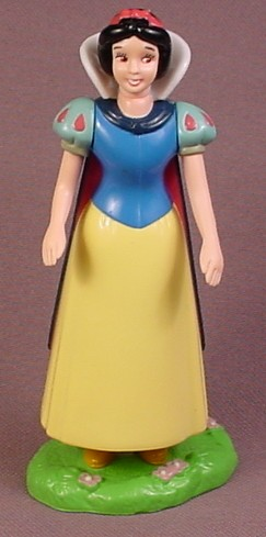 Disney Snow White Figure With PVC Head Arms & Base, 4 1/4 Inches Tall, Figurine