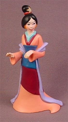 Disney Princess Mulan in Kimono PVC Figure, 3 3/4 Inches Tall