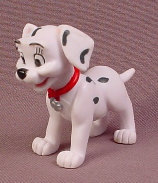 Disney 101 Dalmatians Dog with Spots on Ears & Red Collar PVC Figure, 2 Inches Tall