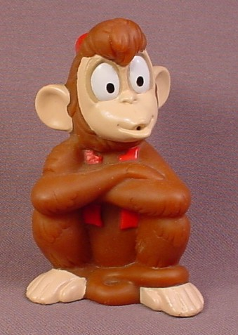 Disney Aladdin Soft Plastic Abu The Monkey Figure, 3 1/2 Inches Tall, Figurine, Bath Toy