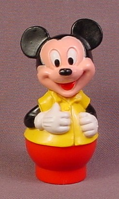 Disney Mickey Mouse In Yellow Vest PVC Figure, 3 Inches Tall, Arco Playset Little People