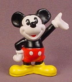Disney Mickey Mouse Waving With One Hand PVC Figure, 2 Inches Tall, Figurine