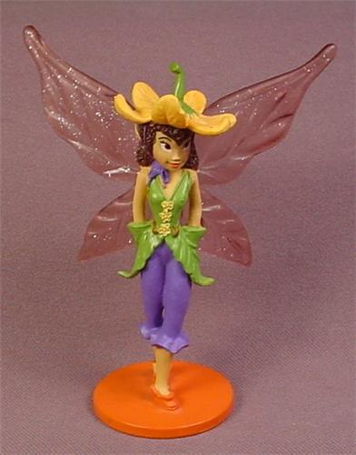 Disney Lily Fairy Figure On A Base, Tinkerbell's Pixie Hollow, 4 Inches Tall, Figurine