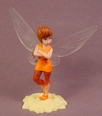 Disney Fawn Fairy Figure On Base, Tinkerbell's Pixie Hollow, 3 1/4 Tall