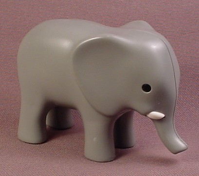 Playmobil 123 Gray Elephant Animal Figure, 2 3/8 inches Tall, 6742 6754 6765, Grey